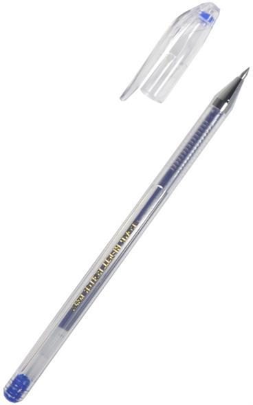 Ручка гелевая 0.5мм, синяя, Crown
