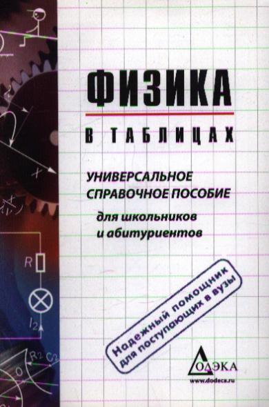 Физика в таблицах Универсальное справ. пос. для старшекл. и абитур.