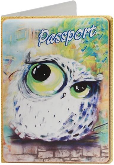"""Обложка для паспорта """"Сова"""", зеленая"""