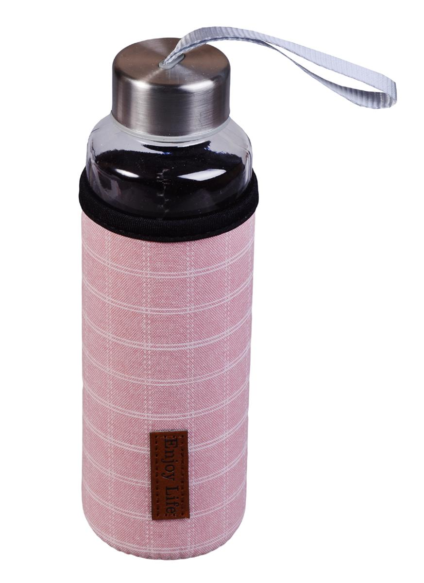 Бутылка в чехле Клетка (стекло) (400мл)