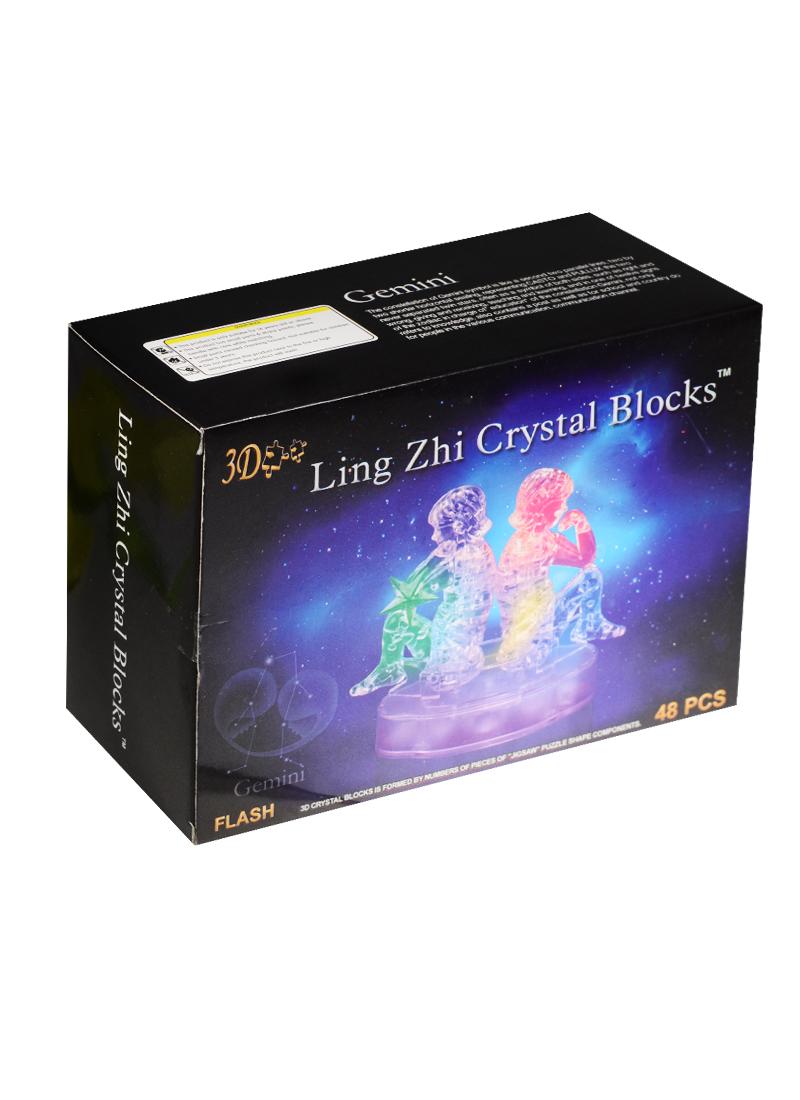 3D Crystal Puzzle Знаки Зодиака Близнецы со светом (9050A)