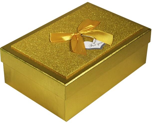 """Коробка подарочная """"Металлик золото"""", 12,5*19,5*6,5см"""