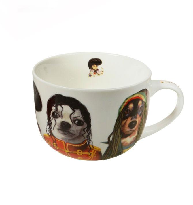 Чашка подарочная Jumbo Знаменитые лица (500мл) (костяной фарфор) Gift'n'home (JM-500 STAR DOGS)