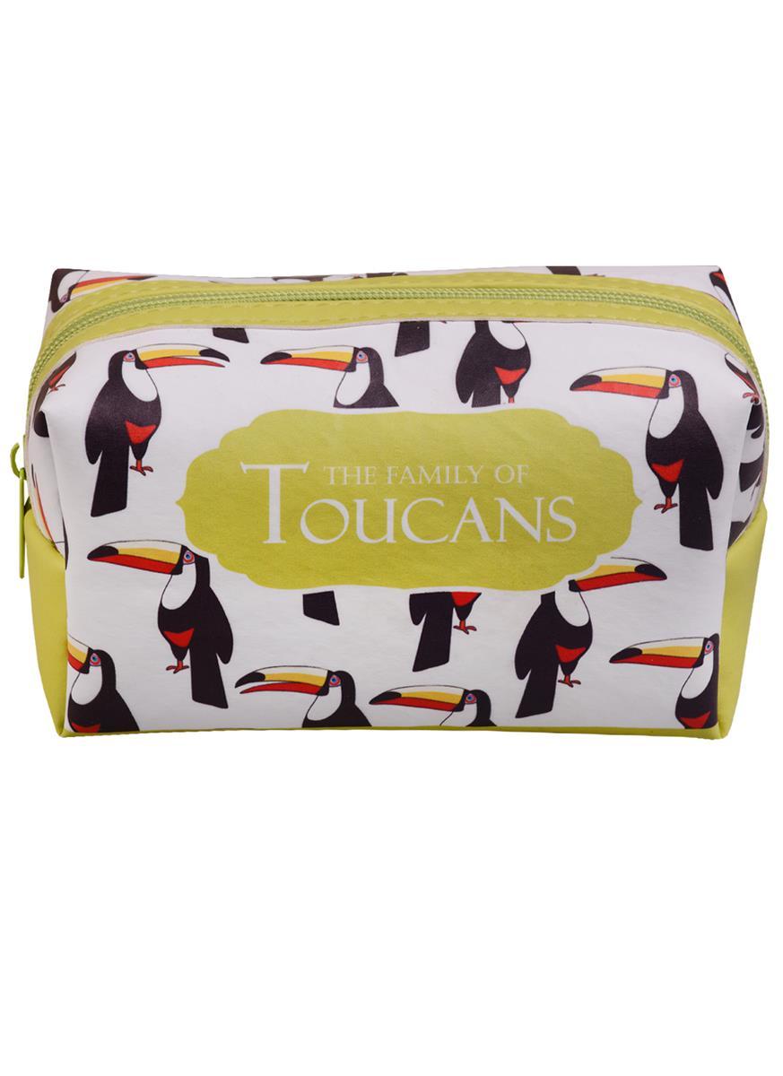 Косметичка на молнии Toucans (Туканы) (16х8) (ПВХ бокс)
