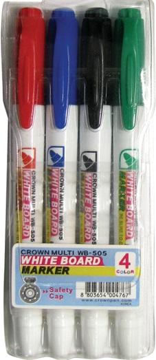 Маркеры для доски, 4 цв., CROWN