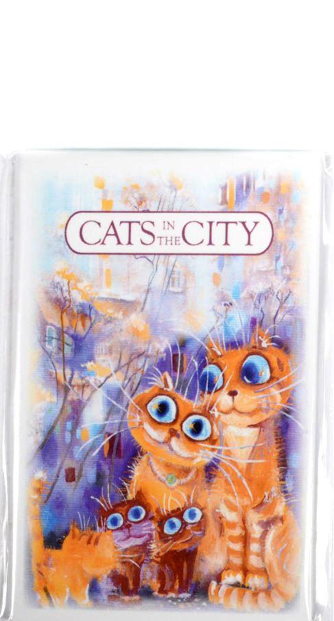 "Магнит ""Cats in the City: Дружная семья"""