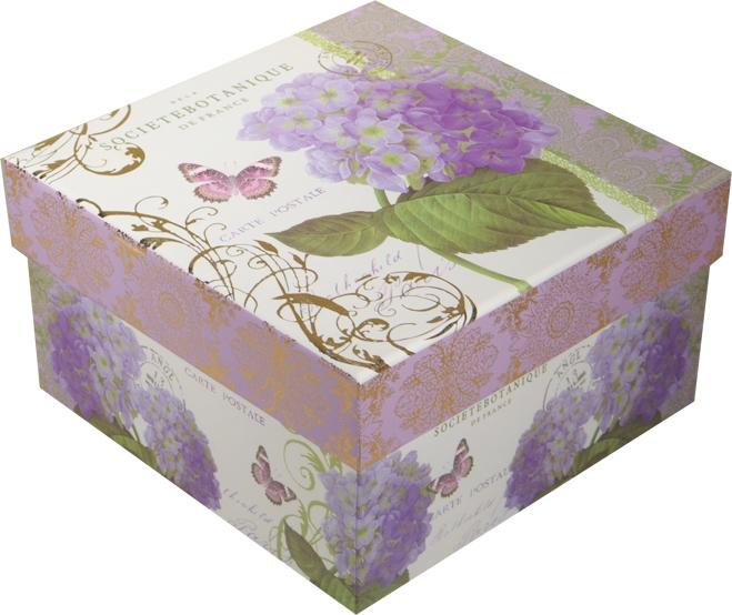 """Коробка подарочная """"Гортензия"""" 19*19*9,5см"""