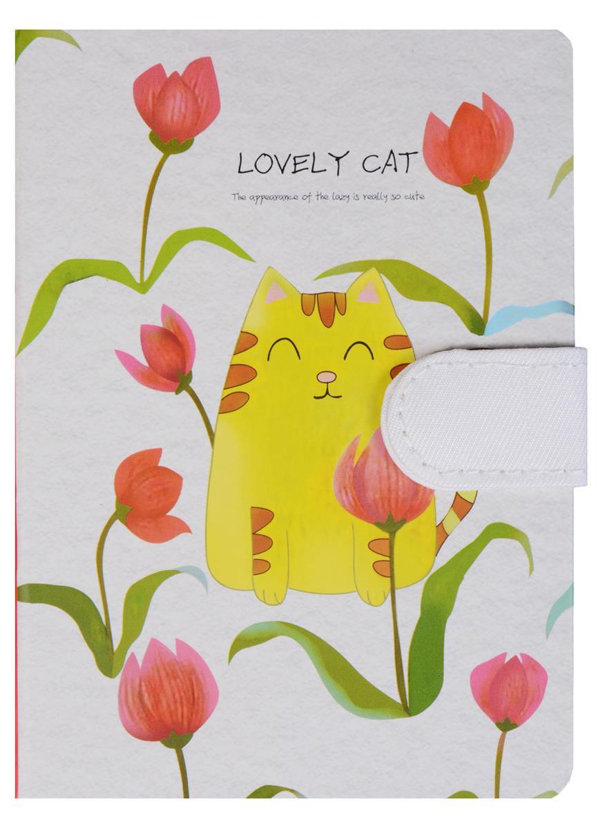 Блокнот Lovely cat с застежкой (288стр) (10,5х14,5)