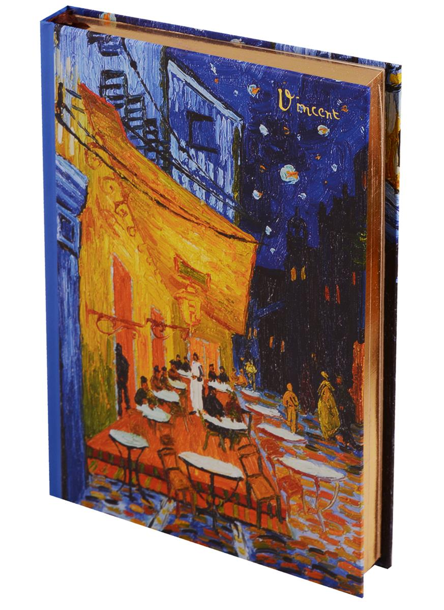 Блокнот Ван Гог Ночная терраса кафе (золотой обрез)