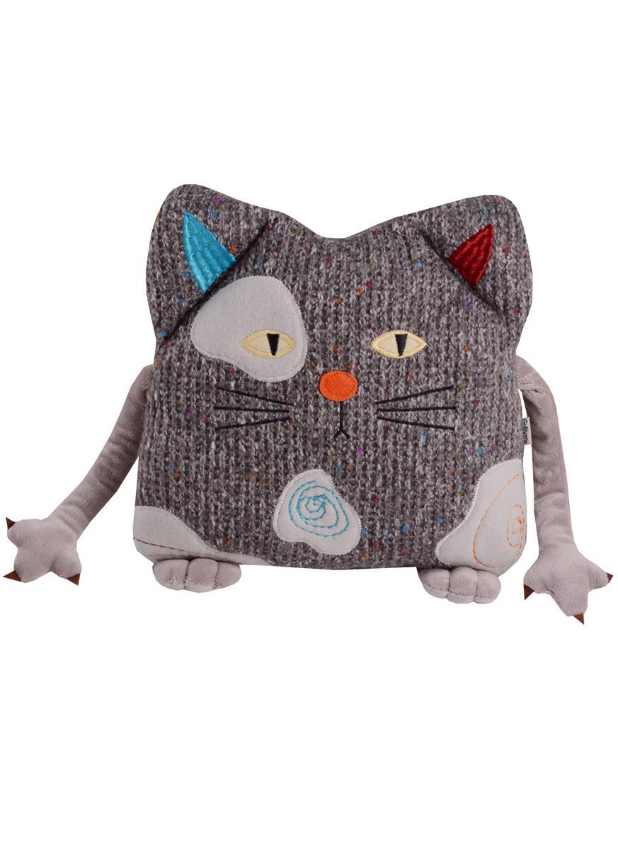 Мягкая игрушка Кот Котейка-подушка (25 см)