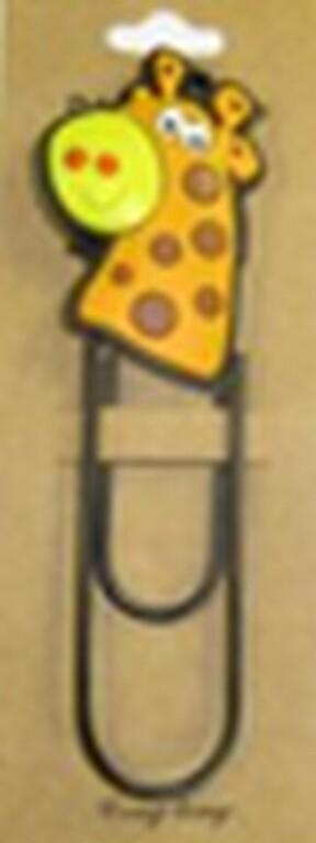 Скрепка - закладка Жираф