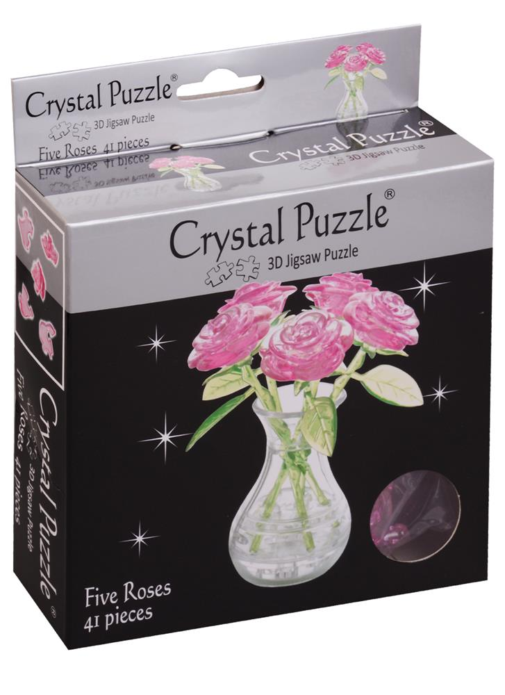 3D головоломка Букет в вазе Розовый