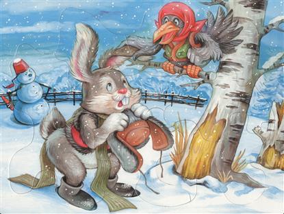 Заяц-хваста. Читаем и собираем сказку