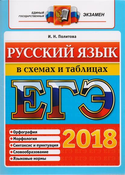 Политова И.: ЕГЭ 2018. Русский язык в схемах и таблицах