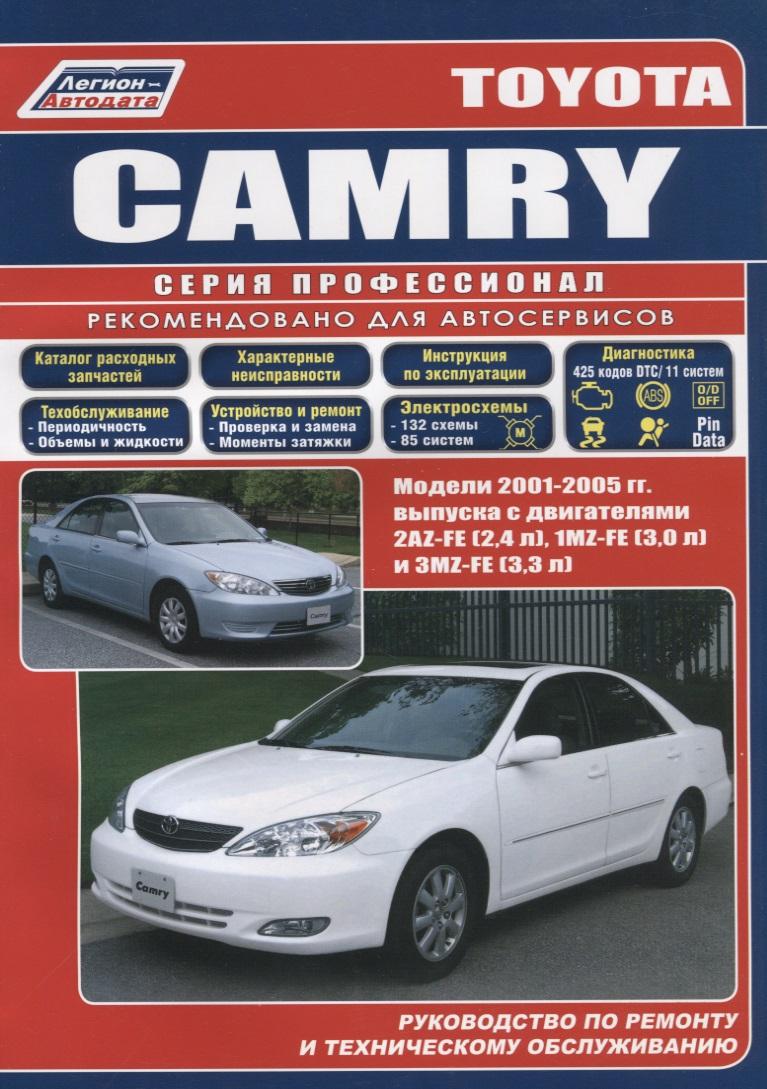 Toyota Camry. Модели 2001-2005 гг. выпуска с двигателями 2AZ-FE (2,4 л), 1MZ-FE (3,0 л) и 3MZ-FE (3,3 л). Руководство по ремонту и техническому обслуживанию