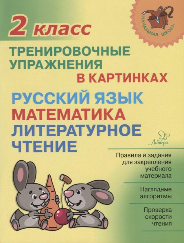 Ушакова О. Русский язык, математика, литературное чтение. 2 класс. Тренировочные упражнения в картинках ушакова о математика 2 кл