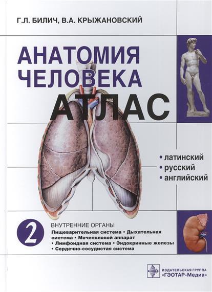 Билич Г., Крыжановский В. Анатомия человека. Атлас: Том 2. Внутренние органы атлас билич крыжановский