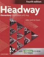 New Headway. Elementary Workbook with key.  Fourth edition (+CD)