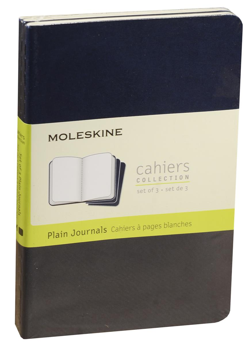 "Записная книжка А6 32л нелин. ""Cahier Journal Pocket"" (3шт.) синяя, обложка картон, Moleskine"