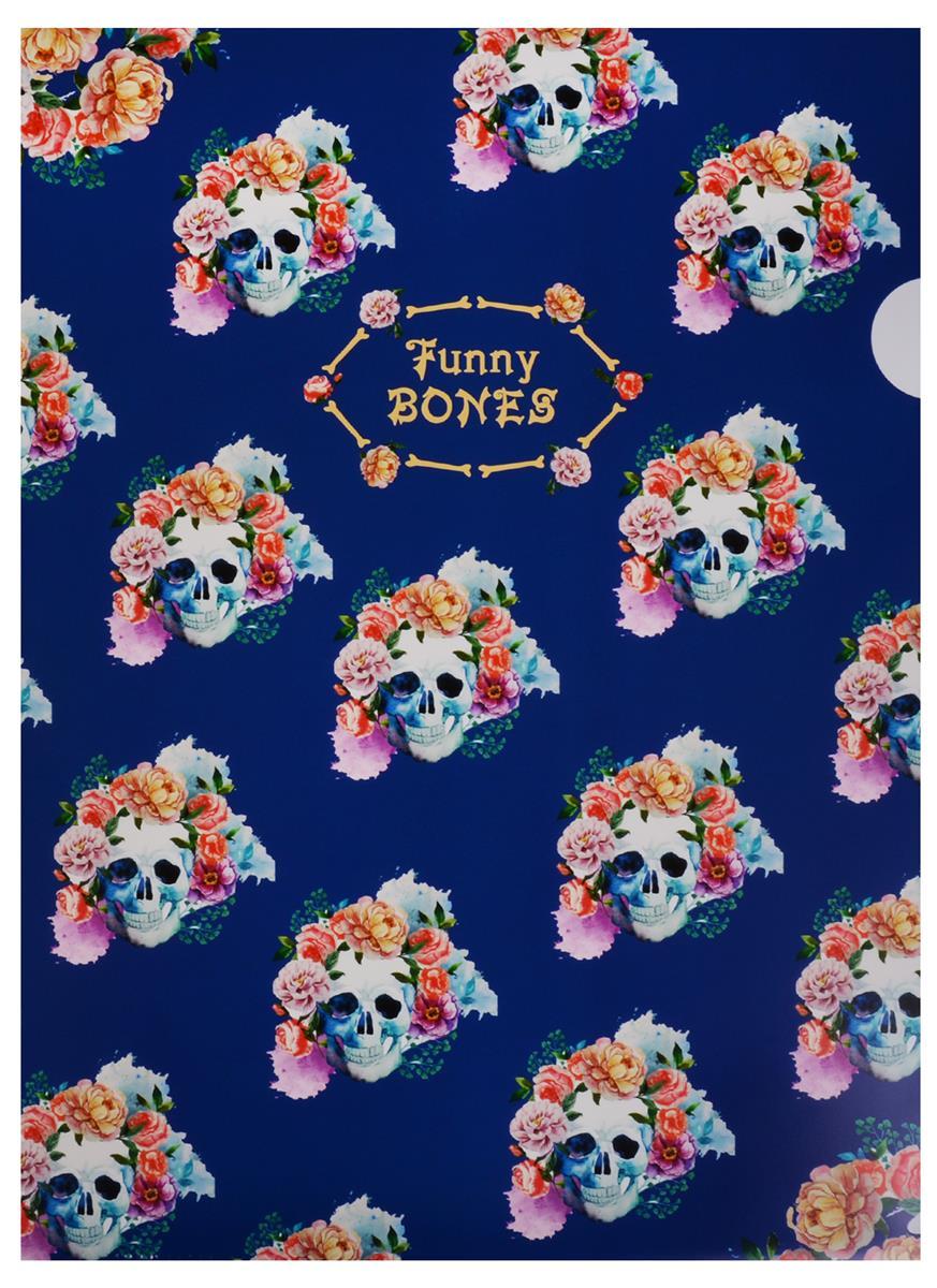 "Папка-уголок А4 ""Funny bones"", пластик 0,18мм"