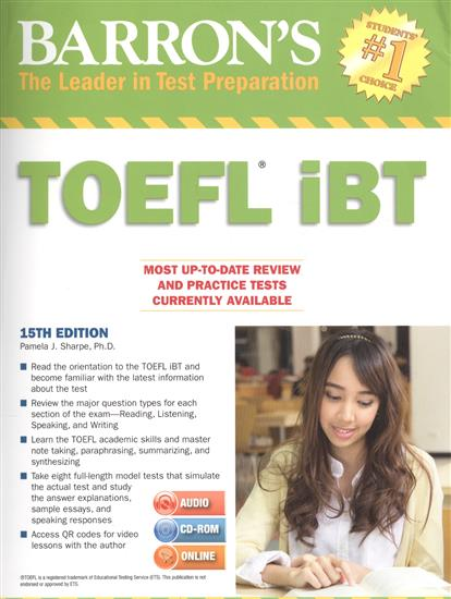 Sharpe P. Barron`s. Toefl iBT (+2MP3 ч.1,2) (audio, cd-rom, online) e mu cd rom