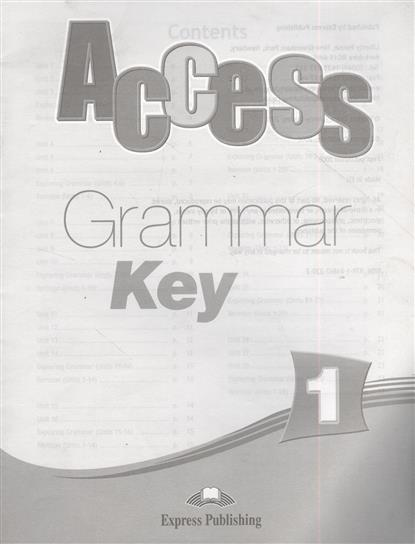 Access. Grammar Book Key 1