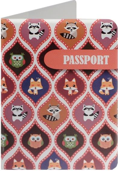 "Обложка для паспорта ""Сова, лиса и енот"""