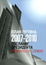 План Путина 2007-2010 Послание Президента в цифрах и схемах