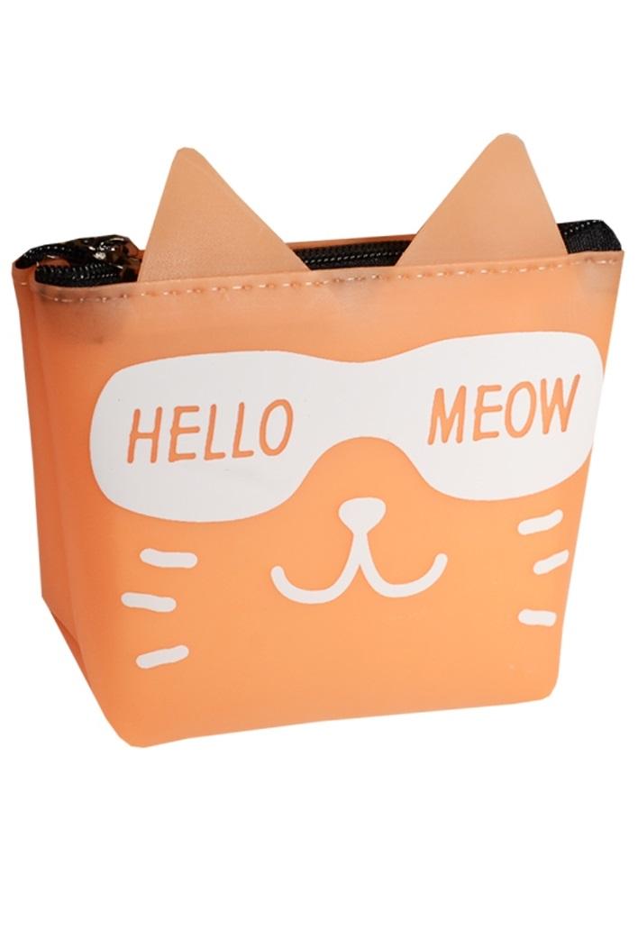 """Кошелек на молнии """"Кошка Hello Meow"""""""