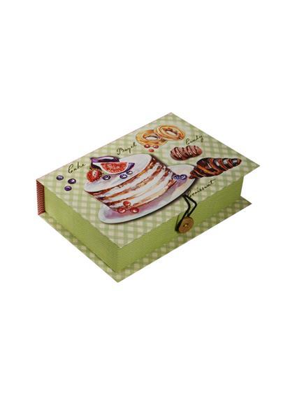 Шкатулка-книга с пуговицей картон S Пирожные (18х12х5см) (39472) (Феникс-Презент)