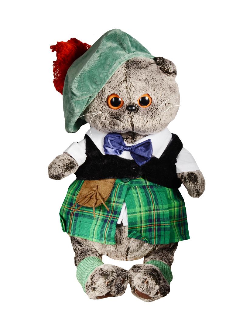 Мягкая игрушка Басик в шотландском костюме (30 см)