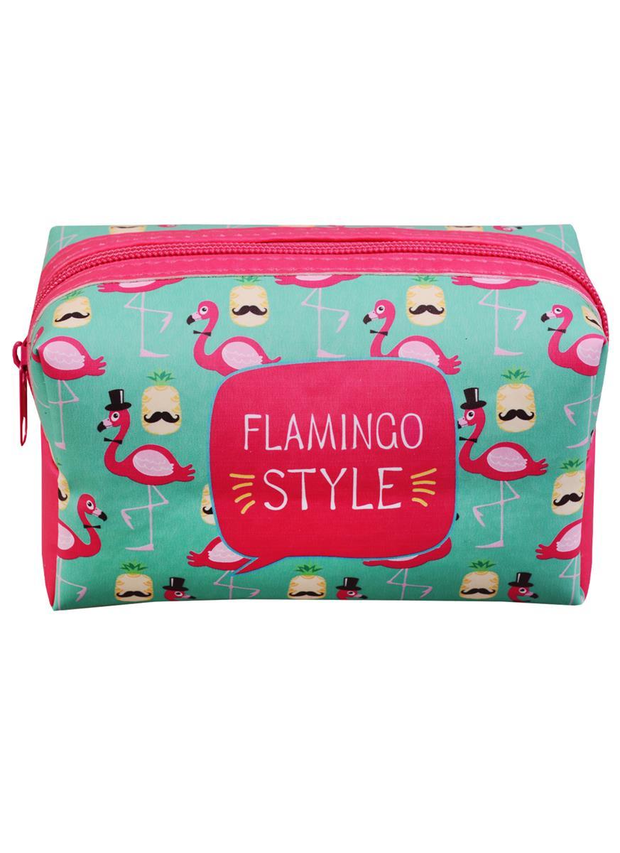 Косметичка на молнии Flamingo style (16х8) (ПВХ бокс)