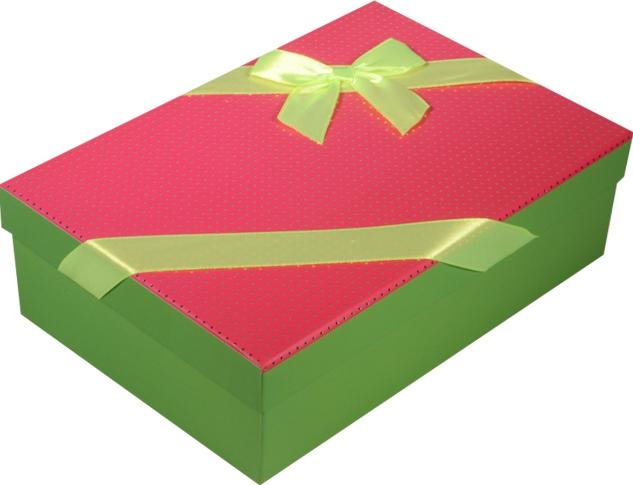 """Коробка подарочная """"Неон"""" розовая 18*11*5см"""