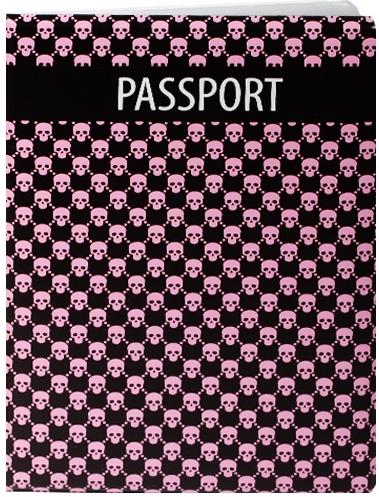 """Обложка для паспорта """"Узор розовые черепа"""""""