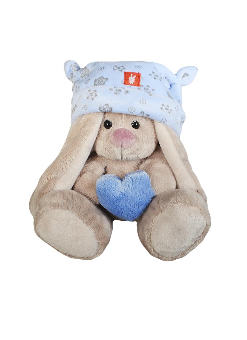 Мягкая игрушка Зайка Ми в голубой шапке с сердечком (15см) (SidXt074) (Буди Баса)