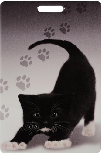 """Чехол для карточек """"Черный котенок"""""""