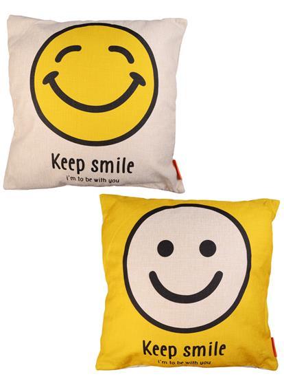Подушка Смайлы Keep Smile (ткань)