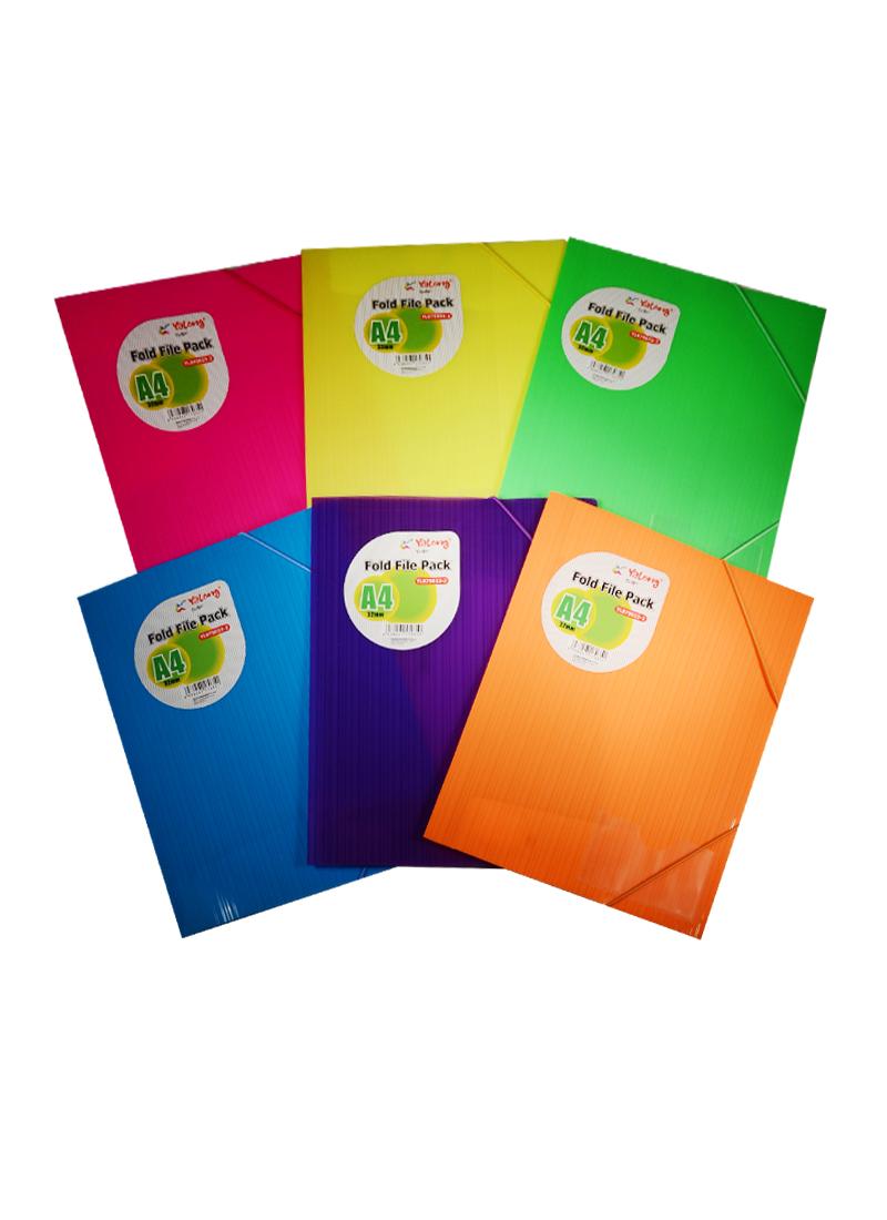 Папка на резинке А4, с карманом для визитки, ассорти