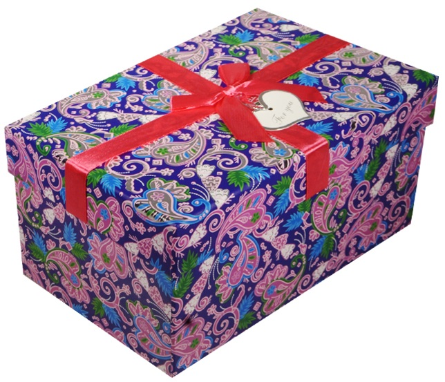 """Коробка подарочная """"Синие огурцы"""", 16*11*7,5см"""