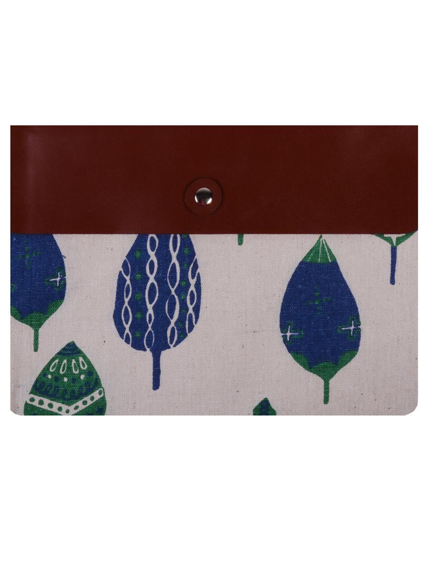"""Папка-конверт А5 на кнопке """"Forest"""",  ткань"""