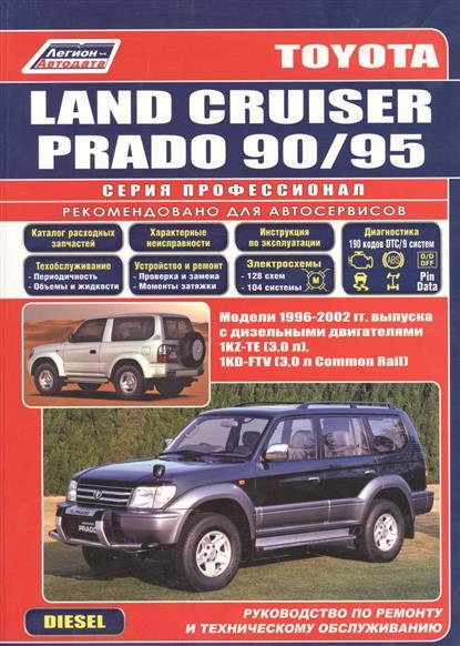 Toyota Land Cruiser Prado 90/95 1996-2002 с диз. двиг. ISBN: 5888502383 mzorange rear fog light reflector for toyota land cruiser prado 2010 2011 2012 2013 2015 lc150 grj150 rear bumper fog lamp