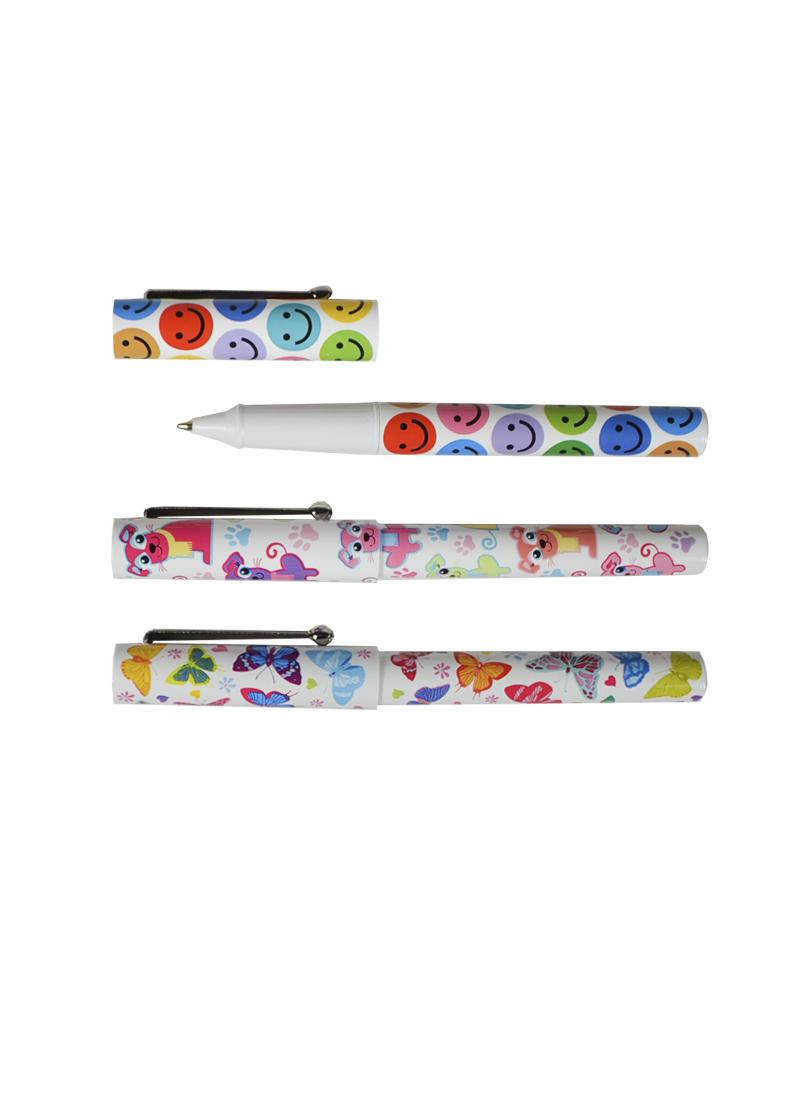 Ручка шариковая с принтом в ассортименте (CV-1) (Листопадова)