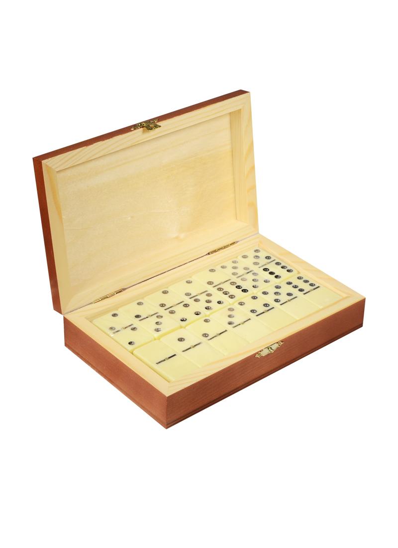 Игра Домино в деревянной шкатулке Мишки (21х13х5) (123-080)