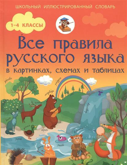 Матвеев С. Все правила русского языка в картинках, схемах и таблицах. 1-4 классы