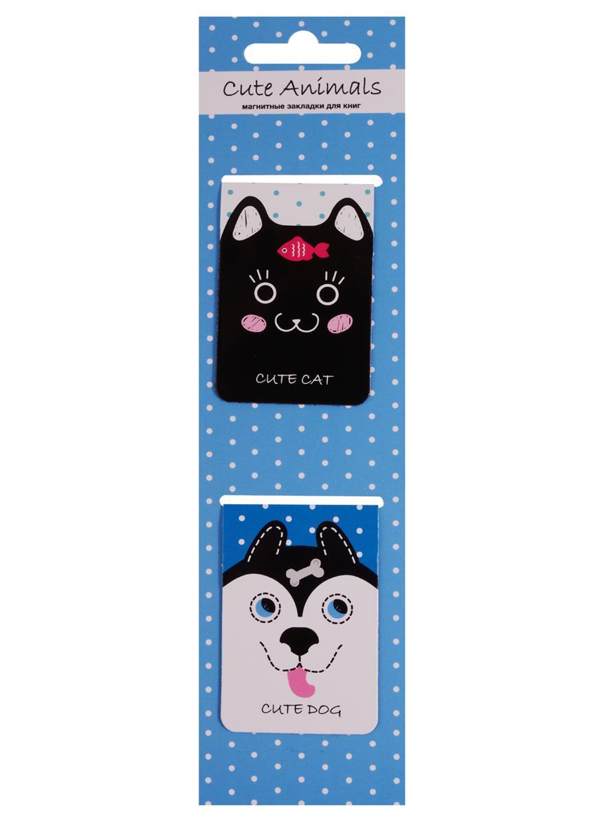 Магнитные закладки Cute Animals (голубая) (2 шт)
