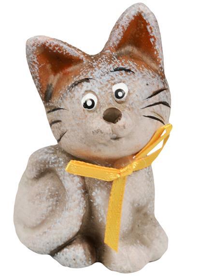 Фигурка керамическая Котенок с бантом (6,5 см)