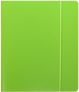 """Тетрадь 120л кл. """"NEON GREEN"""" на кольцах, смен.блок., разделители, пластик.обл., ярко-зеленая, 83326, stila"""