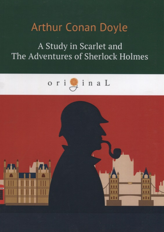 Doyle A.C. A Study in Scarlet and The Adventures of Sherlock Holmes (книга на английском языке) the scarlet letter