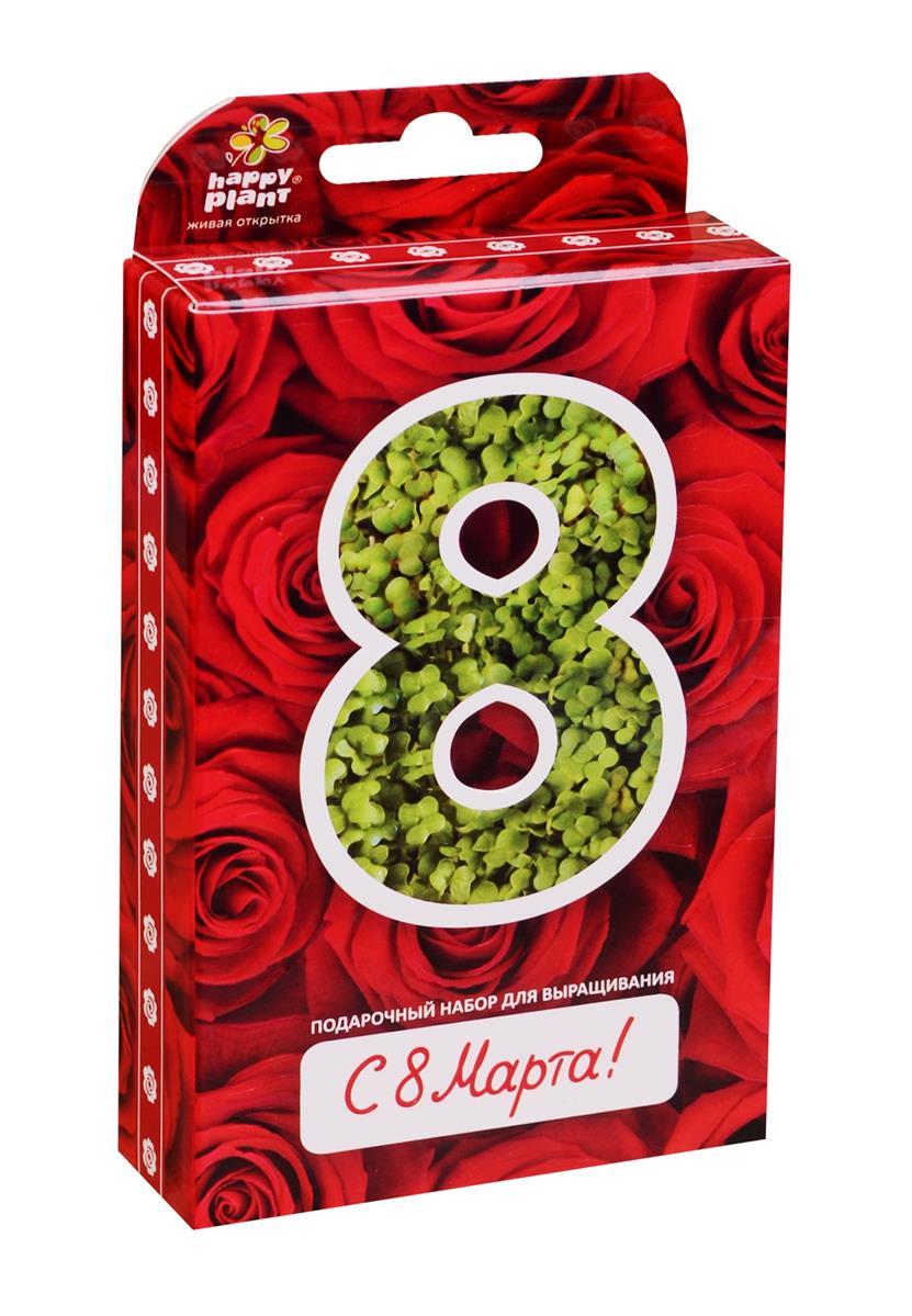 Подарочный набор Живая открытка 8 Марта Розы