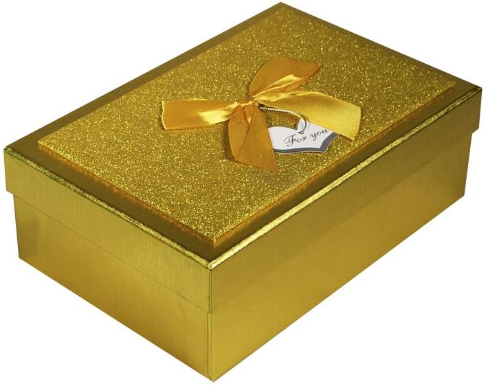"""Коробка подарочная """"Металлик золото"""", 14,5*21,5*7,5см"""